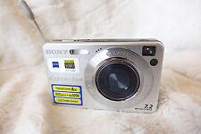 Sony Cyber-shot DSC-W120 7.2MP Digital Camera - Silver working! with battery