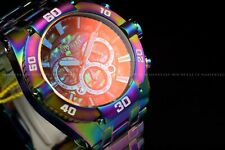 Invicta 50mm Coalition Force Iridescent Abalone Dial Tinted Glass Chrono Watch