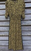 M&S COLLECTION Holly Willoughby Leopard Print Ruched Midi Dress UK6 EU34