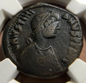 Byzantine Empire - Justinian I (AD 527-565) Follis Sestertius Style 👑 NGC 4/4