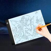 A4 USB LED Artist Tattoo Stencil Board Light-Box Tracing Drawing Board Pad Table
