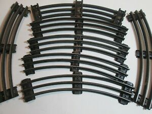 LIonel O Gauge  Curved Track , NO PINS LOT of 7 - Used