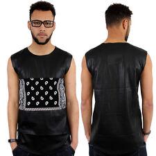 Streetwear Piel Sintética Bandana Estampado Cachemira Camiseta Sin Mangas