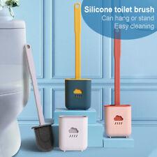 Set Di Spazzolini Per WC In Silicone Con Porta Scopino A Parete