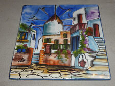 Hand Painted Greece 20 X 20 Tile Hellenic Handcrafed Creations Signed