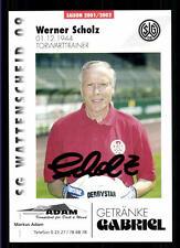Werner Scholz Autogrammkarte SG Wattenscheid 09 2001-02 Original Sign+A 118654