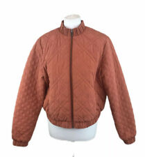 Hobbs NW3 Orange Quilted Jacket Fully Lined Womens 16