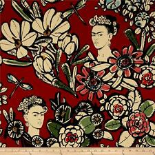 Alexander Henry Fabric Cactus Flower Frida Red By the Yard- 100% Cotton