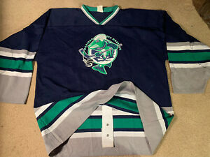 Madison Ice Muskies ultra rare Game style hockey Jersey authentic WI knit AK 2xl