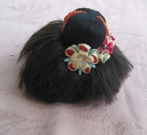 "Vintage wig made for an 11"" Japanese Gofun Ichimatsu girl doll no doll"