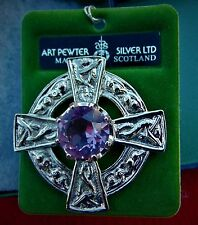 MEDIEVAL BROOCH ~ MADE IN SCOTLAND BY ART PEWTER SILVER LTD.~BRAND NEW IN BOX!