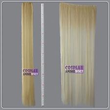 Light Golden Blonde Hair Weft Extention (3 pieces) - 100cm High Temp - Cosplay