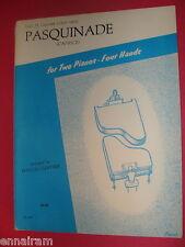 Pasquinade Caprice  Louis Gottschalk for 2 pianos 4 hands 1975 2 folios Gunther