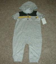 OshKosh BGosh Baby Boys Gray Hooded One-Piece Outfit Size...