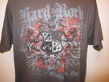 Hard Rock Cafe Wasington D.C. Large Rock & Roll Skull Guitar Salute Grey T Shirt
