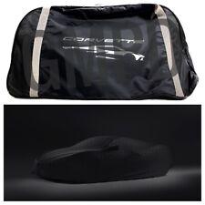 2020 Corvette C8 Premium Indoor Black Car Cover with Embossed Crossed Flags GM