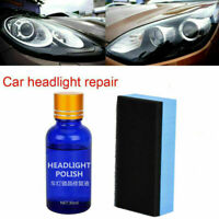 Car Headlight Polishing Fluid Restoration Kit Scratch Repair Polish Tool 30ml TR