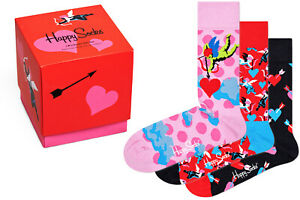Happy Socks - I Love You Socks Gift Set - Box - 3er Pack
