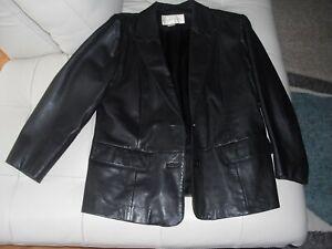 Margaret Godfrey Women's Black Leather Jacket Size 12
