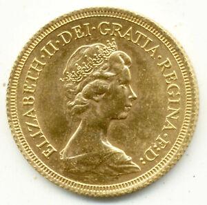 1978 QUEEN ELIZABETH  FULL GOLD SOVEREIGN UNC  COIN