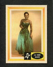 Original 1960 La Vern Baker Spins and Needles Fleer Trading Card Jim Dandy Nice
