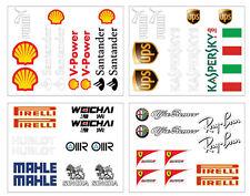 Ferrari Sponsors Decal Set (made to fit on Playseat gaming seat)