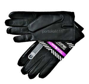 Isotoner Dress Smart Touch THERMAFLEX Leather Gloves Black/Brown  Mens L/XL NWT