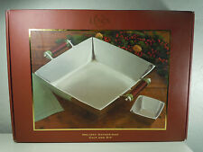 Lenox Holiday Gatherings Chip and Dip Set Stainless New In Box