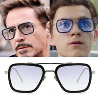 Fashion Tony Stark with Paragraph Metal Bracket Small Spider Sunglasses Glasses