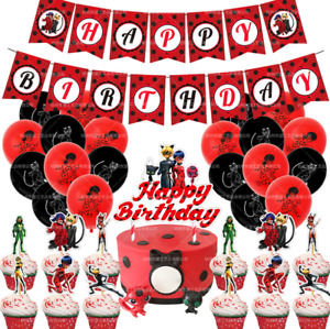 Miraculous ladybug  PARTY BANNER BALLOONS CAKE/CUPCAKE TOPPERS GAME PARTY