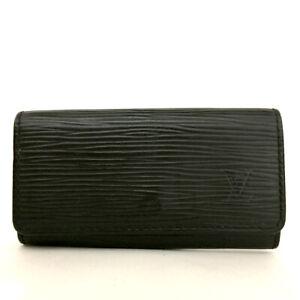 Louis Vuitton Epi Multicles 4 Black Leather Ring Key Case /F0833