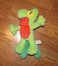 "Retired 2004 Nintendo Hasbro Plush Beanie Green Wood Gecko Treecko Pokemon 12"""