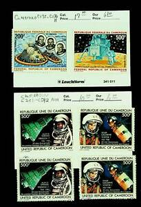 CAMEROON SPACE ASTRONAUTS MAN ON MOON APOLLO 6v MNH+MH STAMPS CV $27