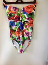 M&S COLLECTION Floral Print Swimsuit Size: 16