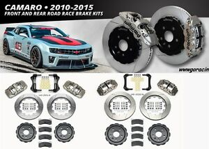 "Wilwood Front & Rear Race Brake Kit fits 2010-15 Chevy Camaro - 6/4 Piston - 14"""