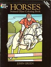 Horses Stained Glass Coloring Book from Dover Publications NEW PB
