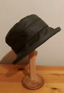 Womens Wax Cloche Rain Hat - Green