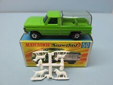 MATCHBOX Superfast50A Ford Kennel Truck LIME Green / SILVER GRILL