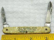Vintage 1940's-50's Small Chicago Usa Folding 2 Blade Pocket Knife Fairbury Ne