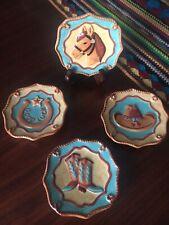 MWW MARKET Mini Plates/Western/Cowboy/Set of 4/Excellent Pre-owned Condition!