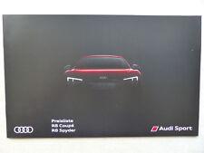 Audi R8 Coupe & Spyder - Preisliste - Prospekt Brochure 07.2016