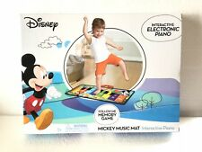 DISNEY MICKEY MOUSE,INTERACTIVE ELECTRONIC FLOOR PIANO,MUSIC MAT,KIDS 3+,NEW wow