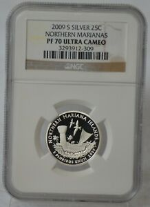 2009 S Silver Proof Quarter Northern Marianas Coin NGC PF70 PF 70 Ultra Cameo
