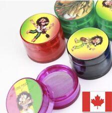 Rasta Grinder 4 Layer Tobacco Herb Spice Grinder + FREE 2 Packs Rolling Paper!