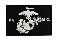 USMC EGA United States Marine Corps 3D PVC B&W Tactical Morale Tags Patch