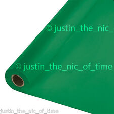 100ft FESTIVE GREEN Plastic Buffet Banquet Roll Party Table Cover Tablecover