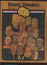 November 9 1969 NFL Program Pittsburgh Steelers at Chicago Bears