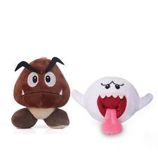Super Mario Bros Goomba & White Boo Ghost 5 Inch Plush Doll Toy