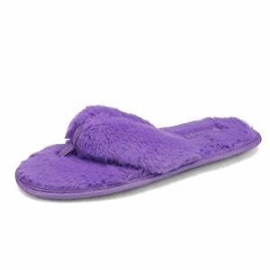 Women's Memory Foam Flip Flops Lightweight Slip On Indoor House Slippers