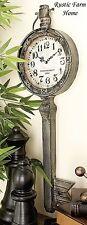 Elegant Metal Key Clock Wall Decor SHABBY CHIC Antique Vintage Industrial Style